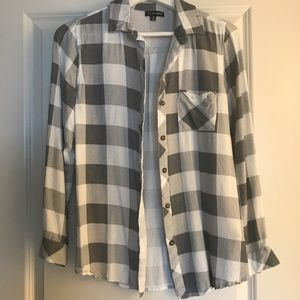 Flannel style top